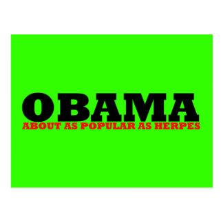 Obama impopular tarjeta postal