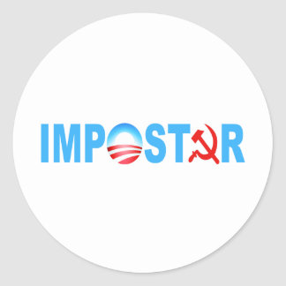 Obama Impostor Classic Round Sticker