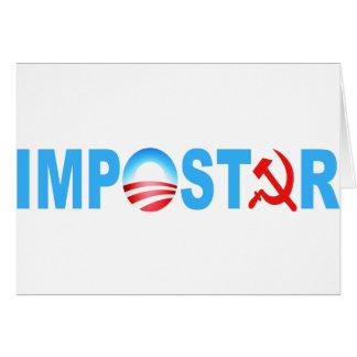 Obama Impostor Greeting Card