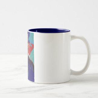 Obama Impressionist Two-Tone Coffee Mug