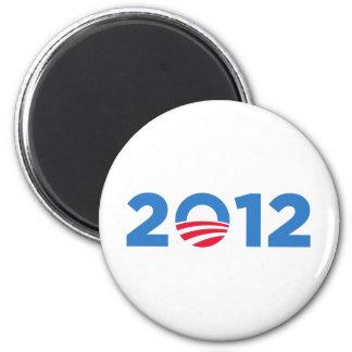 Obama in 2012 2 inch round magnet
