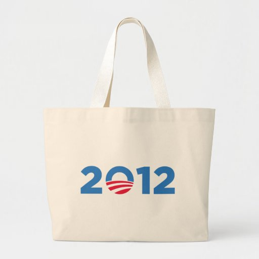 Obama in 2012 tote bags
