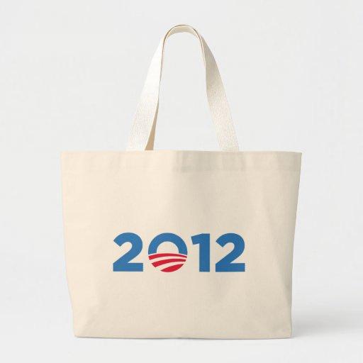Obama in 2012 large tote bag