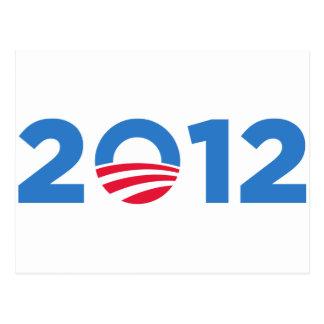 Obama in 2012 postcard