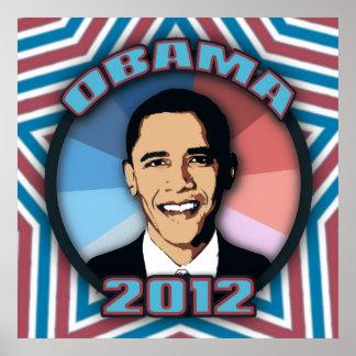 Obama in 2012 poster