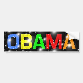 Obama in Colorful Bubbles Bumper Sticker Car Bumper Sticker