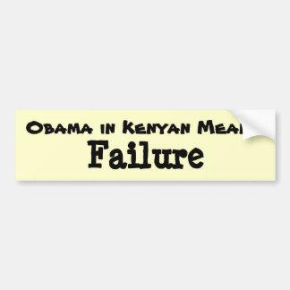 Obama in Kenyan Bumper Sticker