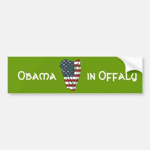 Obama In Offaly US Flag Irish Harp Bumper Sticker