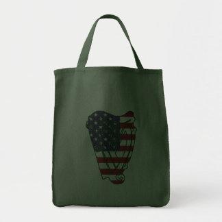 Obama In Offaly US Flag Irish Harp Tote Bag