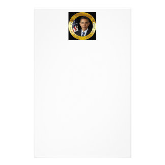 Obama in Presidential Seal with Gold edge Stationery