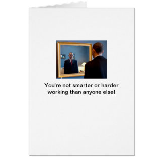 Obama in projection mode greeting card