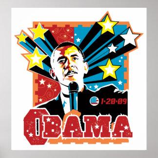 Obama Inaugration Poster - retro style