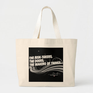 Obama Inaugural Address 'Risk Takers' Jumbo Tote Bag