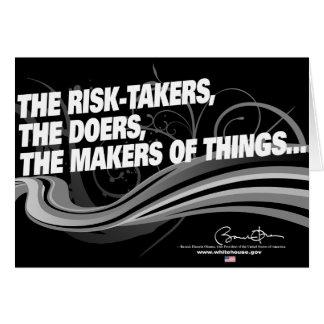 Obama Inaugural Address 'Risk Takers' Card