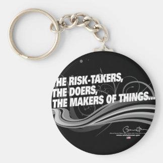Obama Inaugural Address 'Risk Takers' Basic Round Button Keychain
