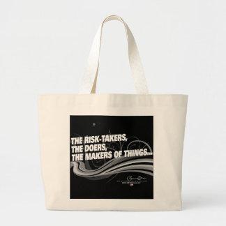Obama Inaugural Address 'Risk Takers' Large Tote Bag