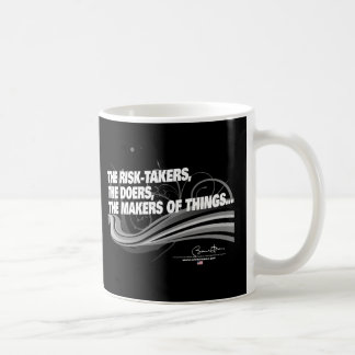 Obama Inaugural Address 'Risk Takers' Classic White Coffee Mug
