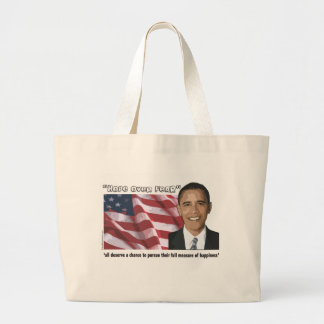 Obama Inaugural Quote Souvenirs Large Tote Bag