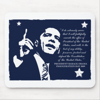 Obama Inaugural Speech Mouse Pads
