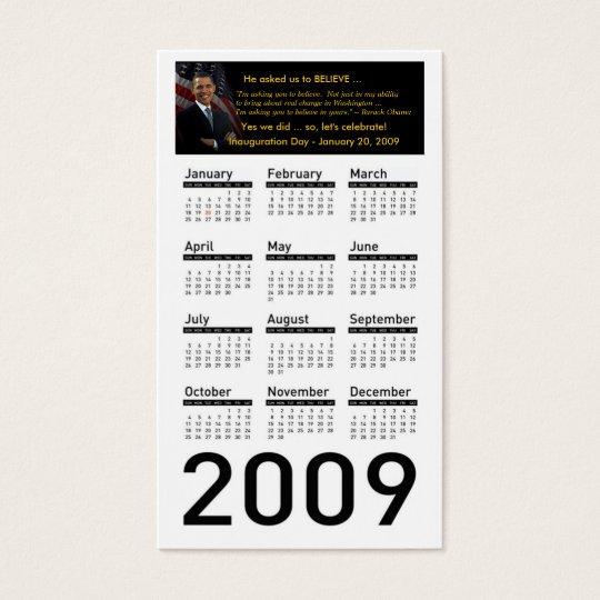 Obama Inauguration 2009 Calendar Profile Cards