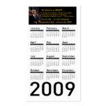 Obama Inauguration 2009 Calendar Profile Cards Business Cards