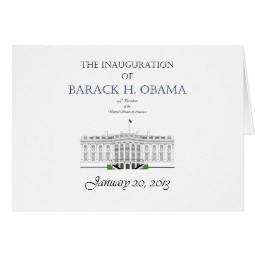 Obama Inauguration 2013 Card