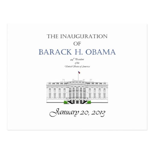 Obama Inauguration 2013 Postcard