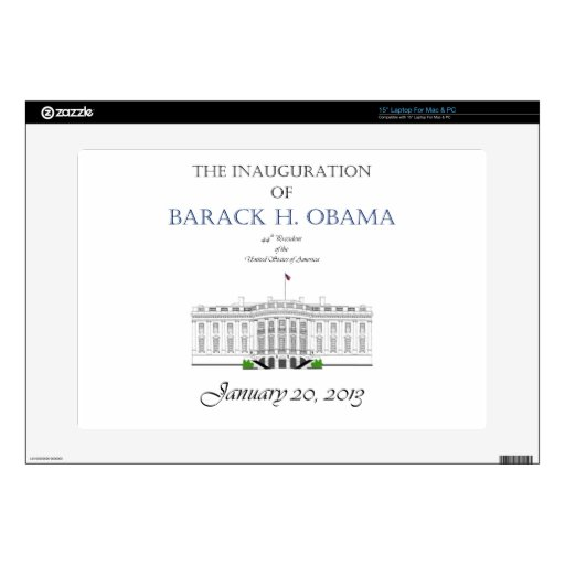 Obama Inauguration 2013 Decals For Laptops