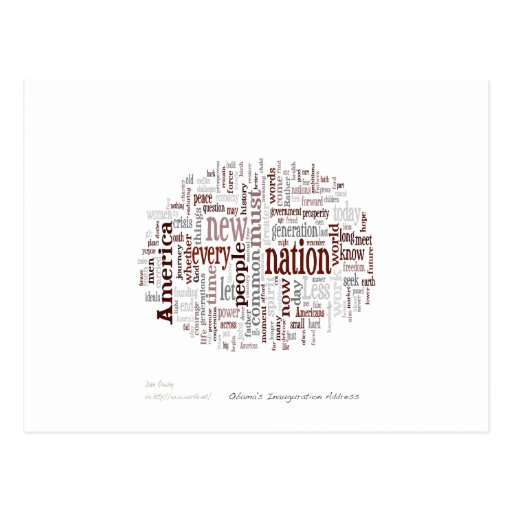 Obama Inauguration Address Postcard
