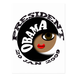 Obama Inauguration Buttons and T-Shirts! Postcard