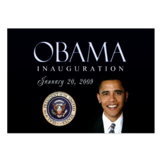 Obama Inauguration cards Business Card