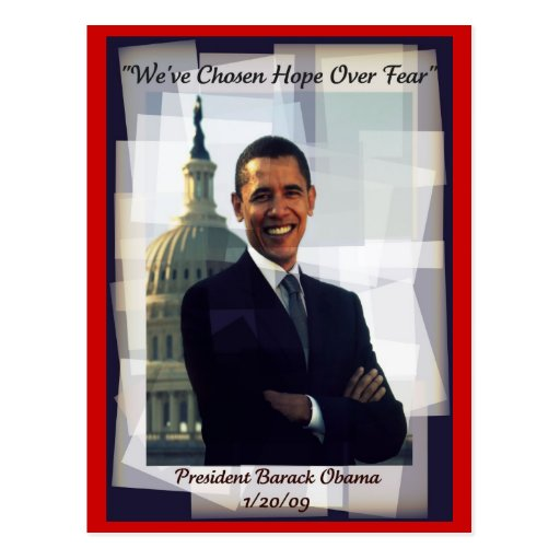 Obama Inauguration Day 2009 Souvenir Post Card