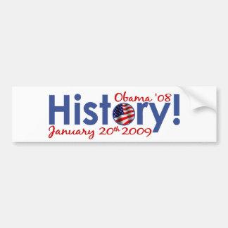 Obama Inauguration Day Car Bumper Sticker