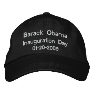 Obama Inauguration Day Commemorative Collectors Embroidered Baseball Hat