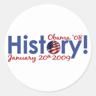 Obama Inauguration Day Classic Round Sticker