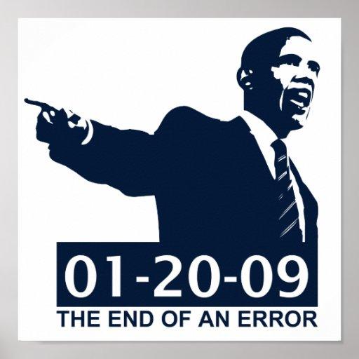 Obama Inauguration End of an Error Print