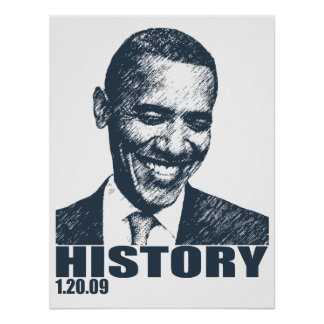 Obama Inauguration History 1 20 09 Posters