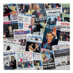 Obama Inauguration International Newspaper Poster