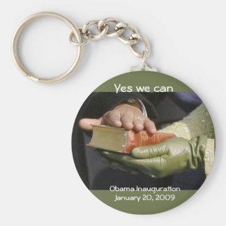 Obama Inauguration Keepsake Basic Round Button Keychain