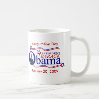 Obama Inauguration Keepsake Coffee Cup Mugs