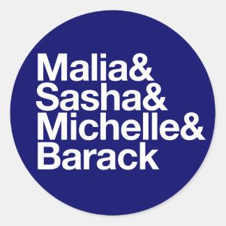 Obama Inauguration & More Classic Round Sticker