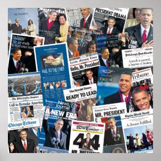 Obama Inauguration Newspaper Poster