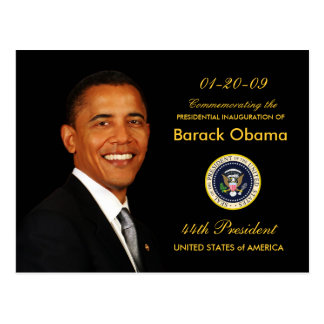 Obama Inauguration Party Invitation - Formal Postcard