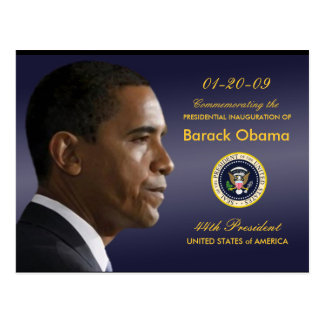 Obama Inauguration Party Invitation Postcard