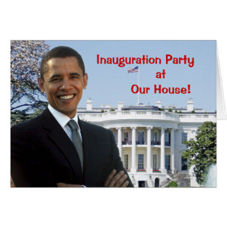 Obama Inauguration Party Invitation Stationery Note Card