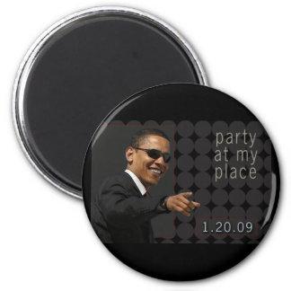 Obama Inauguration Party Invite Magnet