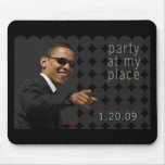 Obama Inauguration Party Invite Mouse Pads
