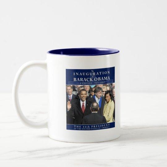 Obama Inauguration Photo Two-Tone Coffee Mug