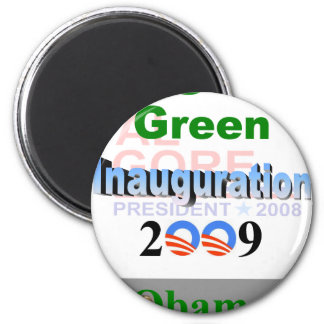 Obama Inauguration Recycled Gore 08 Refrigerator Magnet