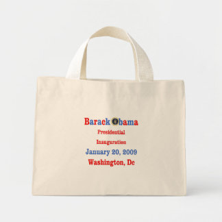 Obama Inauguration Souvenir Collectors Mini Tote Bag
